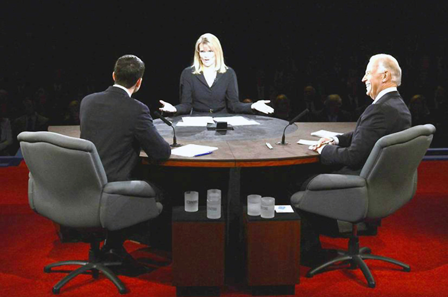 ... Debate Of This Election Season Thursday, When Vice President Joe Biden  And Congressman Paul Ryan Faced Off, There Was One Clear Winner: Furniture.